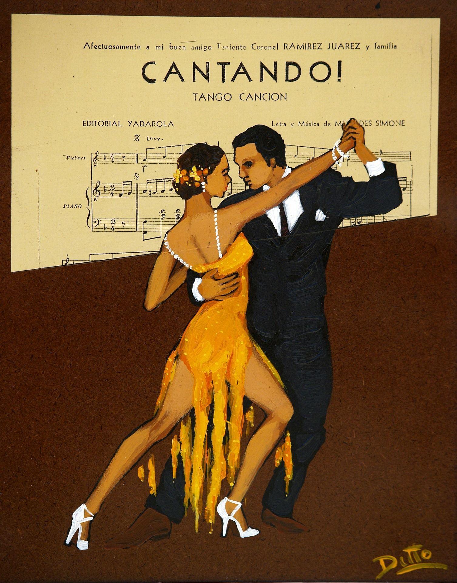 Altes Werbeplakat für Tango
