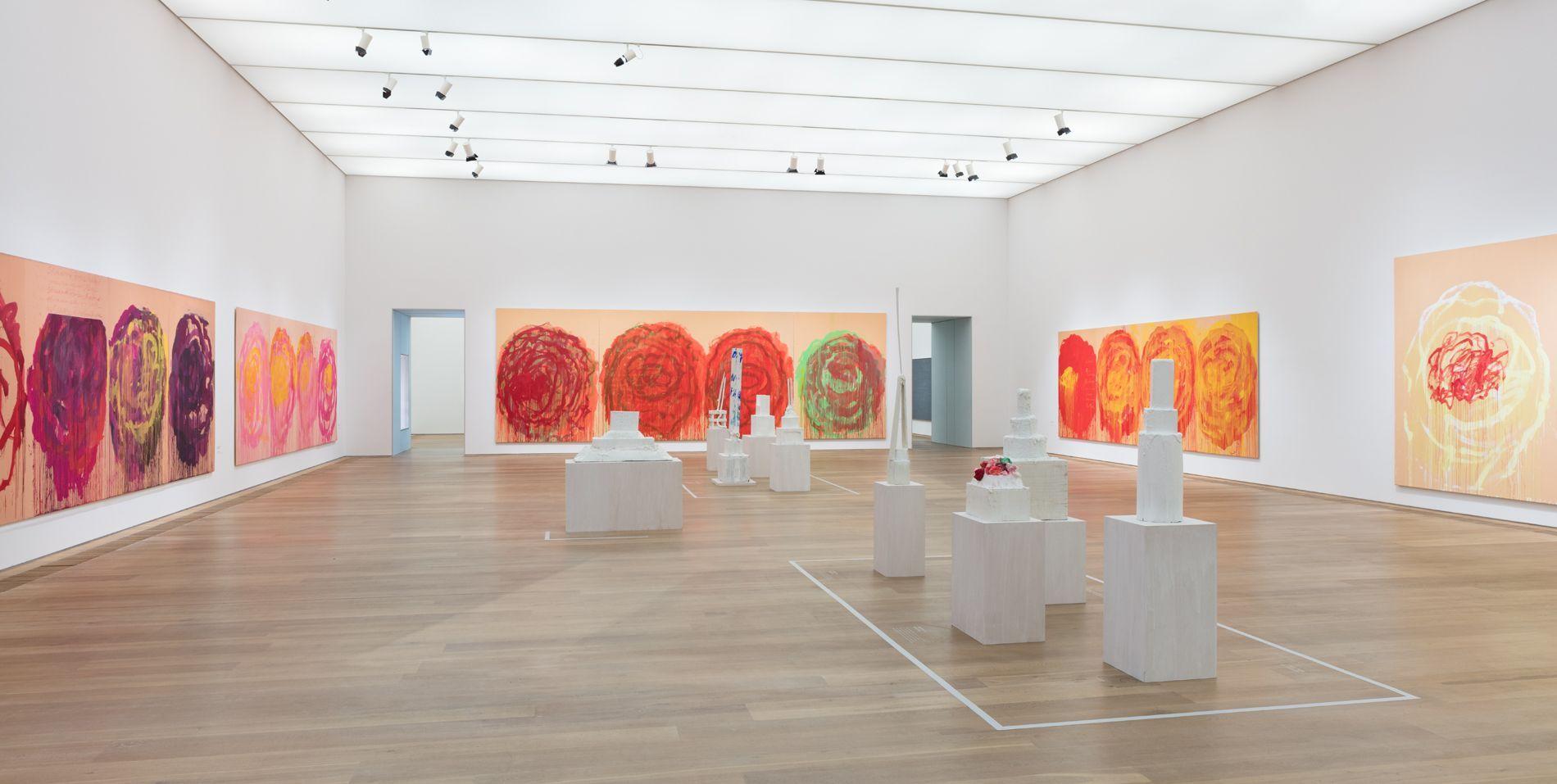 Raumansicht des Rosensaals von Cy Twombly im Museum Brandhorst (Foto: Stephan Wyckhoff)