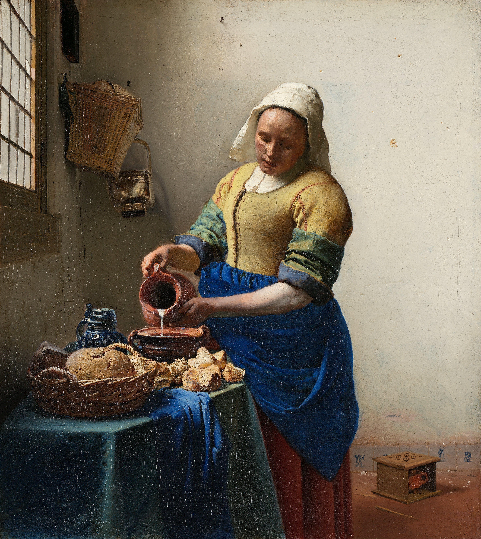Vermeer: Dienstmagd mit MIlchkrug 1665