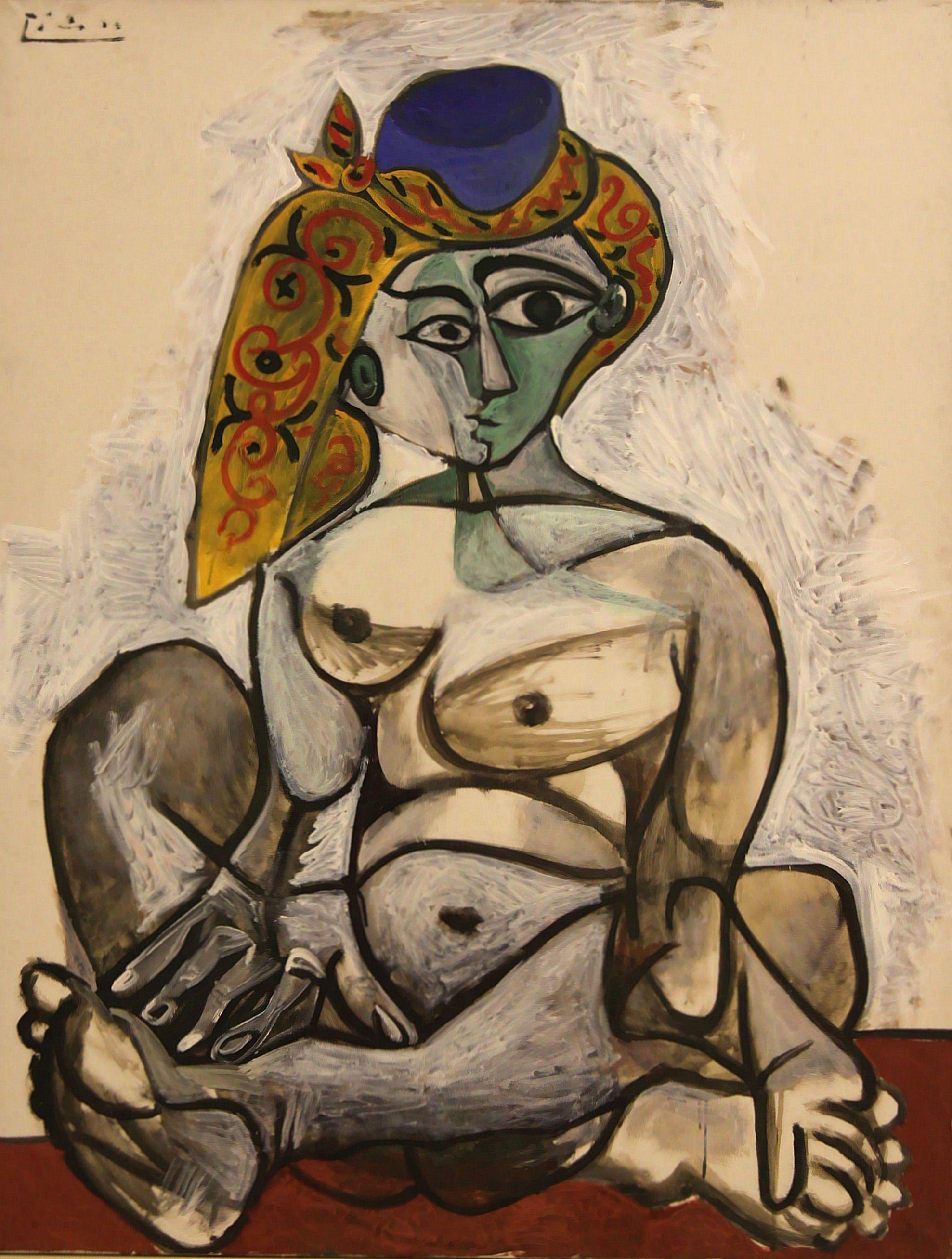 Picasso: Nackte Frau mit türkischer Haube 1955
